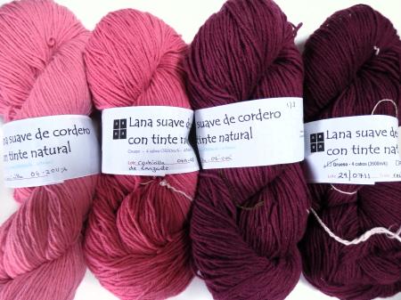 lanas con tintes naturales