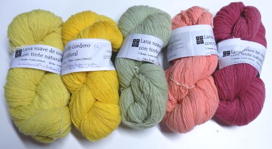 lana con tintes más ecológicos