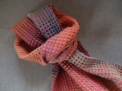 waffle weave anemone scarf