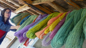hand-dyeing gives woven textiles a special touch
