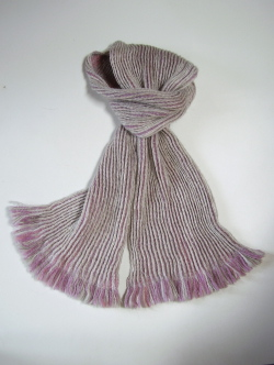 alpaca collapse weave scarf