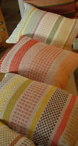 win a cushion in the craft fair raffle
