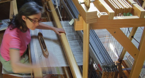 Anna Champeney Hand-weaving Studio is open during August 2010 to the public for sale of hand-woven linen textiles and guided visits.  Rest of the year - visits by appointment only.