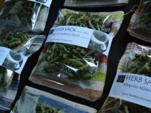 Linen herb sacks from Anna Champeney Estudio Textil in Galicia Spain