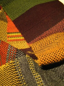Sample made on first weave course
