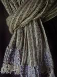 linen, wool & silk scarf