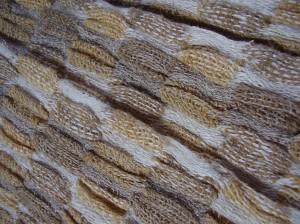fular de fibras naturales - lino, lana y tintes naturales