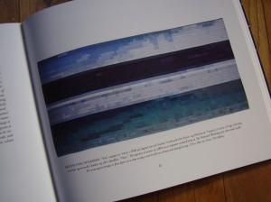 Digitalised woven seascape by Berthe Forchhammer