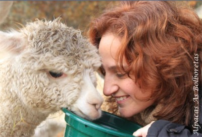 Bea con alpaca