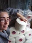 Anna with linen yarn