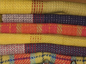 Woollen scarves with natural dyes 2003 - 2006
