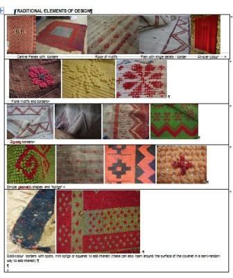 Traditional felpa motifs