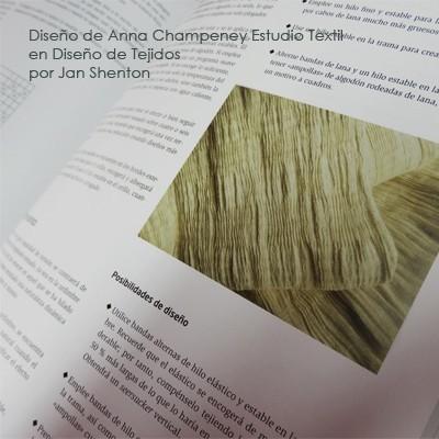 diseño textil Anna Champeney en libro de Jan Shenton Diseño de Tejidos 400 pix