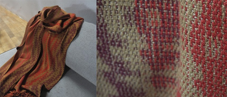 foulard en seda y bamboo by Naomi (pupil of Textilesnaturales & Anna Champeney Estudio Textil)