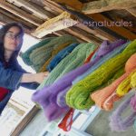 Natural dyes yarns