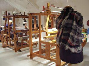 lotte dalgaard in her Danish weaving textile studio