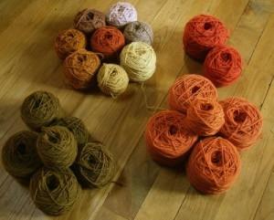 suficiente lana para varias bufandas