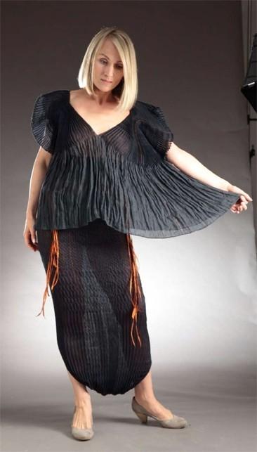 hand-woven garment hand-woven by Lotte Dalgaard