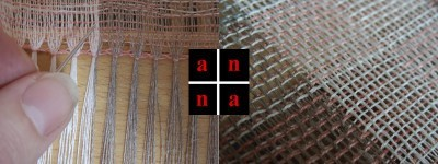vainica and detail of weave